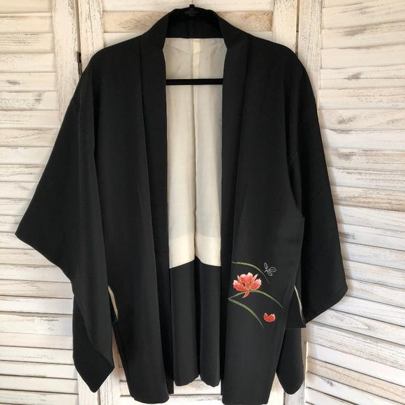 Jackets & Blazers - Vintage Japanese Kimono Jacket (haori)
